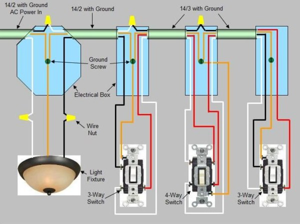 How To Wire A 4 Way Switch With 1 Light