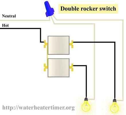 How To Wire Double Rocker Switch  Use 3 Gang Receptacle Box