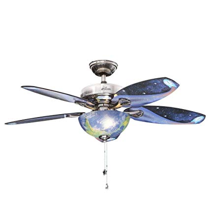 Hunter Space Discovery 48 In  Brushed Nickel Ceiling Fan With