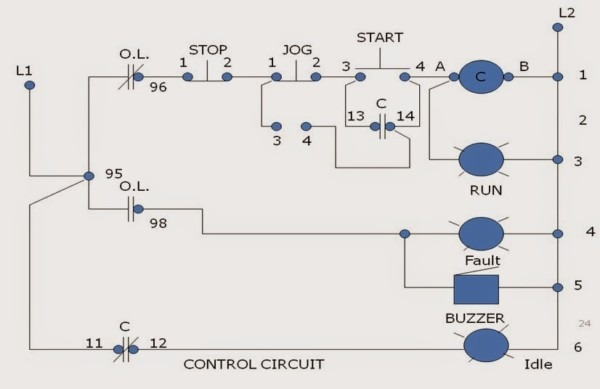 Start Stop Circuit Schematic