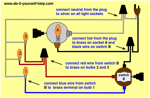 Lamp Switch Wiring Diagrams