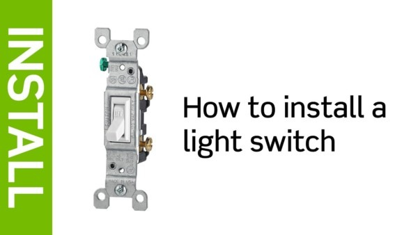 Light Switch Installation Instructions