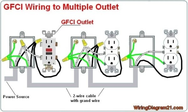 Multiple Gfci Outlet Wiring Diagram