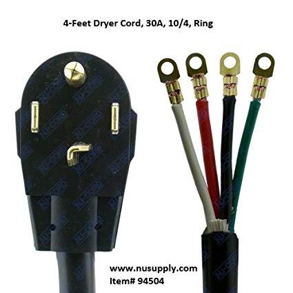 Nucord 4 Wire Dryer Cord, 4