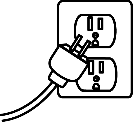 Plug Black And White Clipart