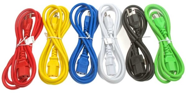 Power Cord, 14 Awg, 3c, Sjt Jacket, C14 To C13, 15amp, Colors – Cp