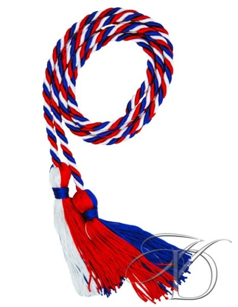 Red, White And Blue Honor Cords For High School, Homeschool Graduation
