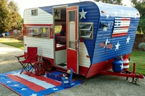 Red, White, Blue And Oh So Green Patriotic Campers