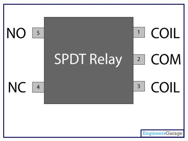 Relay Switch Pin Diagram & Description