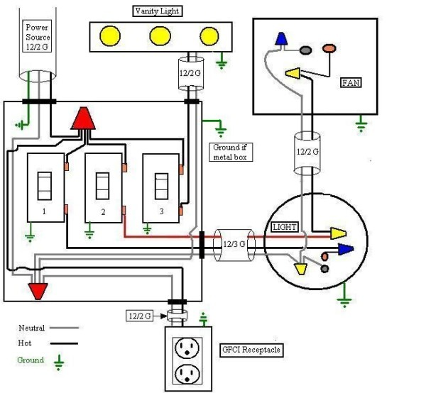 Residential Wiring Diagrams For Bathroom