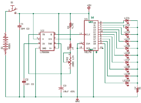 Schematics Of Delabs  Running Lights With Cd4017