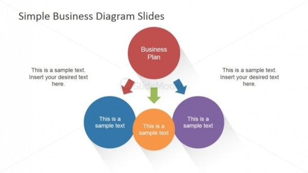 Simple Diagram Design Main Concept & 3 Sub