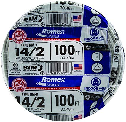 Southwire 28827423 100' 14 2 With Ground Romex Brand Simpull