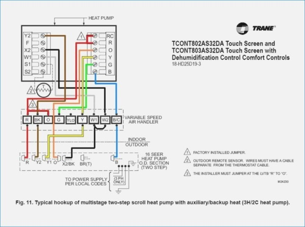 Trane Thermostat Wiring Schematic