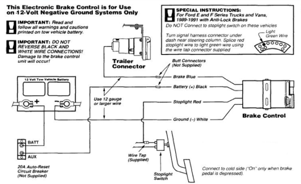 Electric Brakes For Trailer Diagram