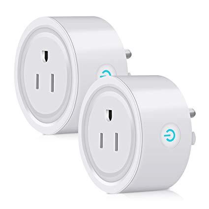 Wifi Smart Plug 2 Pack Caloics Mini Wireless Plug Outlet Remote