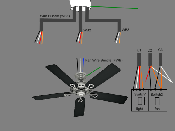 How To Wire A Ceiling Fan To Two Wall Switches