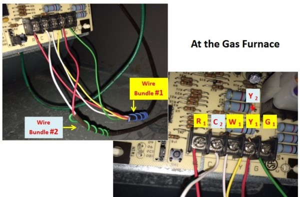 2 thermostats one furnace 6 Wire Thermostat Wiring Diagram