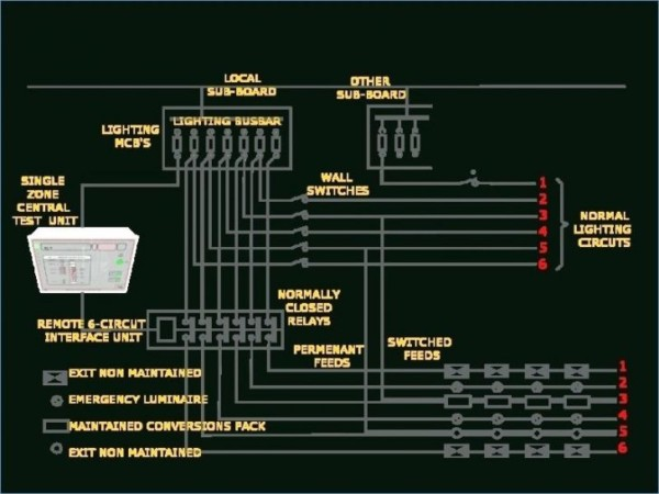 Wiring Diagram Emergency Exit Lights For Maintained Find O