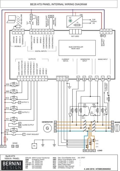 Wiring Diagram Generator Control Panel