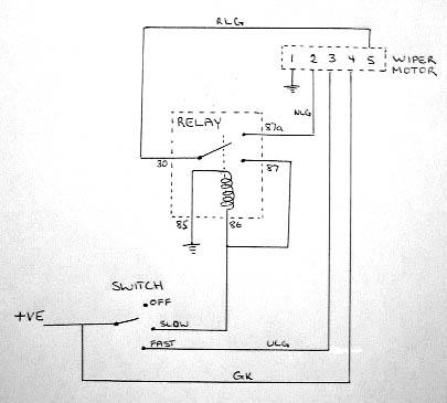 Wiring For Wiper Motor