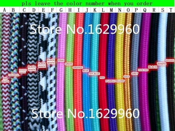 10 Meters Black Color 2 Core 0 75mm2 Textile Electrical Wire Color