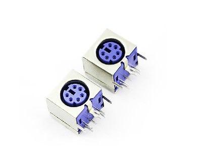 10pcs Mini 6pin Female Pcb Mount Ps2 Jack Mouse Keyboard Plug
