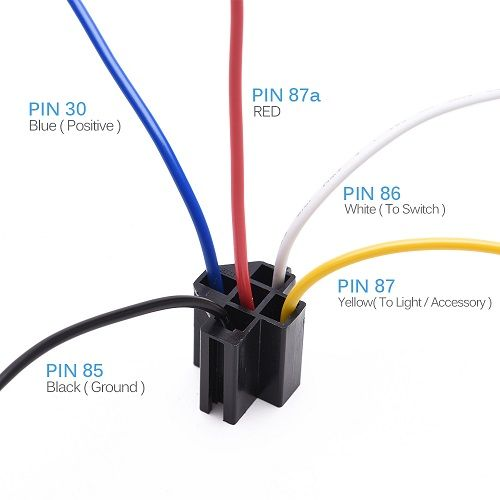 12v 30 40 Amp 5 Pin Spdt Automotive Relay With Wires + Harness