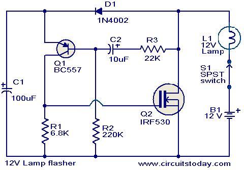 12v_lamp_flasher_circuit_3  Pin Flasher Wiring Diagrams on 3-pin relay diagram, 3-pin flasher fast, 3-pin plug wiring diagram,