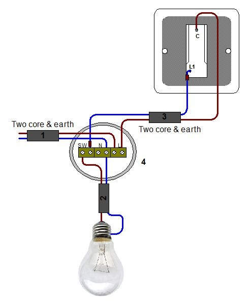1 Way Wiring Diagram