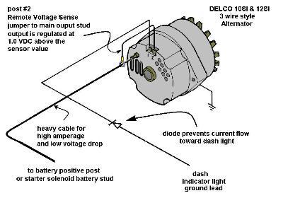 1 Wire Chevy Alternator Wiring Diagram
