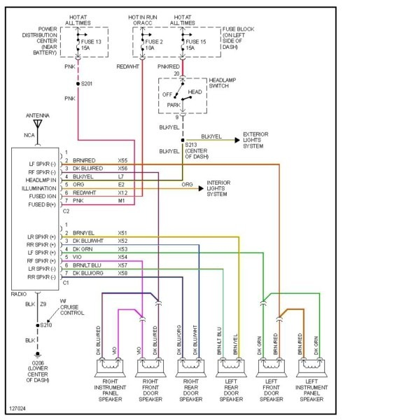 2002 dodge ram radio wiring diagram Ram 1500 Infinity Radio