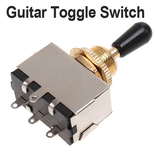 2019 Golden 3 Way Toggle Switch For Electric Guitar With Black