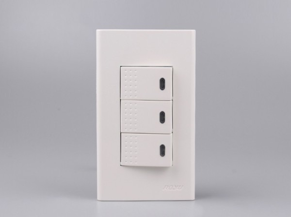 2 Gang 2 Way Electric Switch With Small Dot Design,home 10a 250v