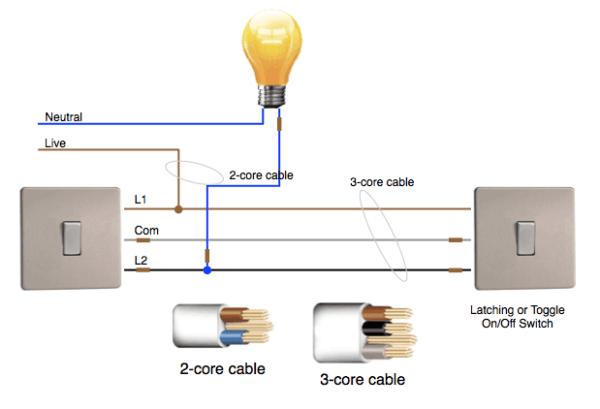 2 Way Lighting Wiring
