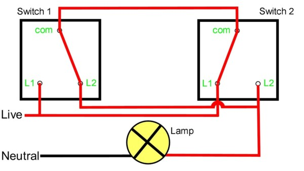 2 Way Switch Schematic