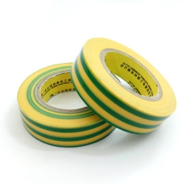 2pcs Yellow Green Waterproof Plastic Tape 20m   17mm Ground Wire
