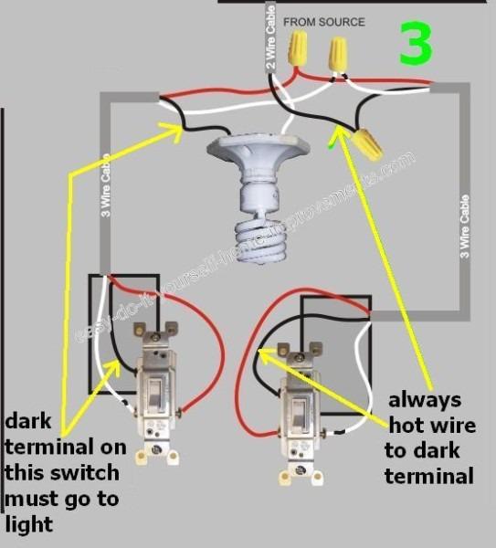 Black Screw On 3 Way Switch