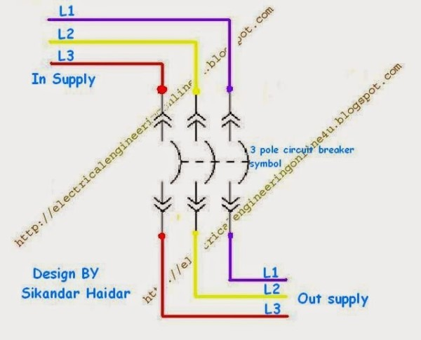3 Pole Circuit Breaker Diagram