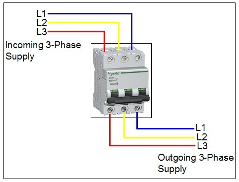 3 Pole Circuit Breaker Wiring Diagram