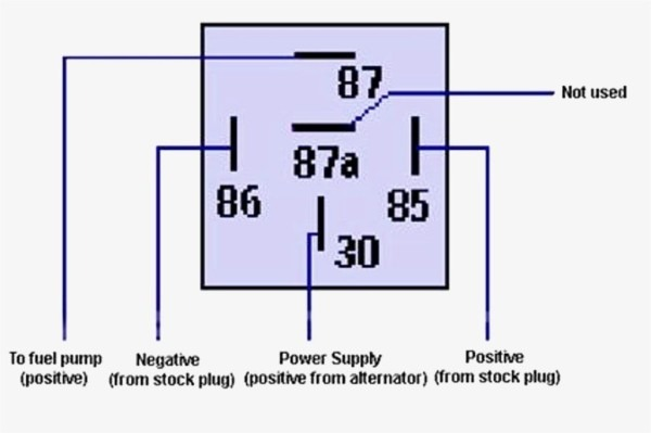 5 Pin Relay Schematic