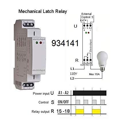 Amazon Com  Electrodepot Memory And Latching Relay, Mechanical