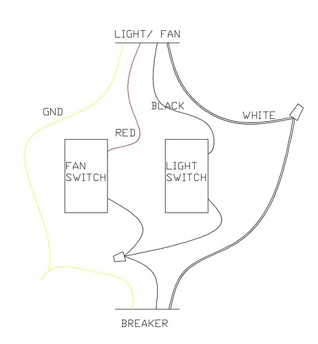 Basic Light And Fan Switch Wiring