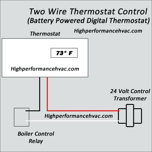 two wire heat only thermostat