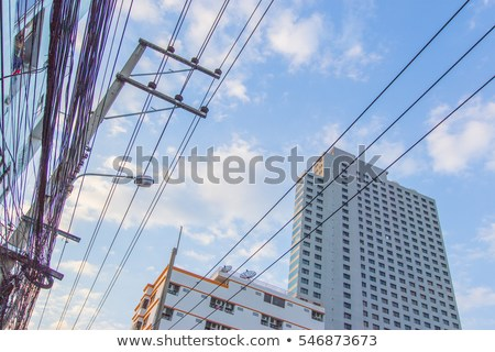 Building Electric Wire Sky Stock Photo (edit Now) 546873673