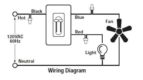 Ceiling Fan Light Dimmer Switch Wiring Diagram