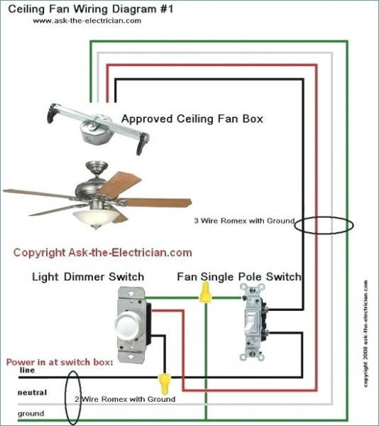 Wiring Ceiling Fan With Light Two Switches