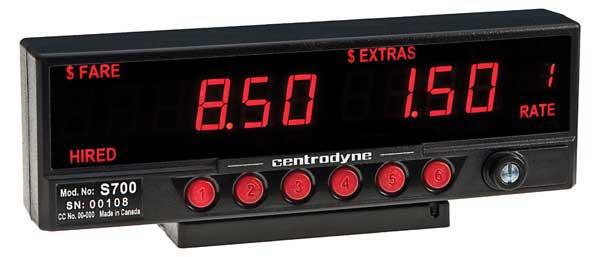 Centrodyne Silent 610 Taximeter For Taxi Cabs