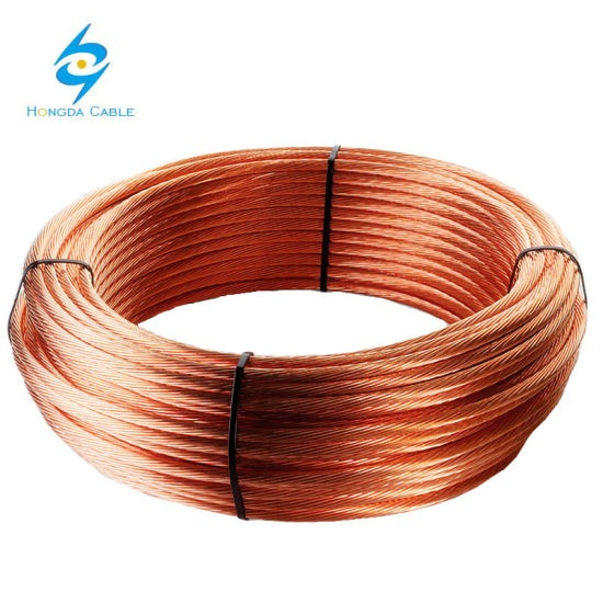 China Earth Ground Wire Cable 35mm2 50mm2 70mm2 Bare Copper