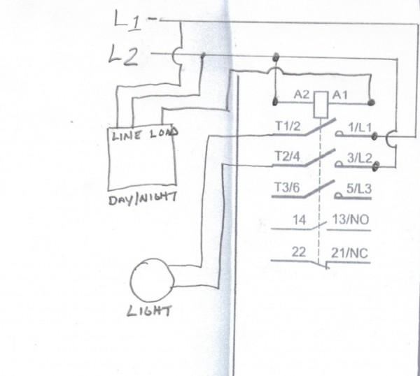 Contactor Wiring Lighting